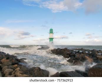 Beach, Ocean, Storm