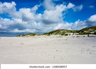 Beach on Amrum with dunes, Germany
