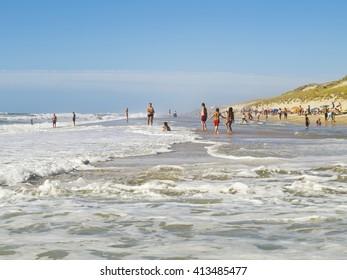 Beach on the Atlantic coast of France,Aquitaine, Lacanau-Ocean