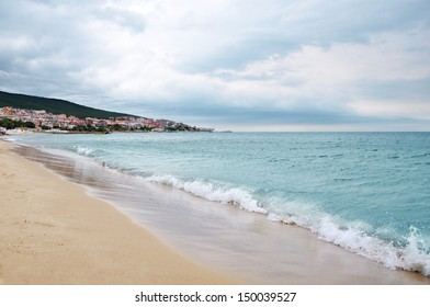Beach on the Black Sea in St Vlas, Bulgaria