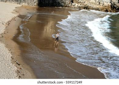 Beach on the coast of Asturias