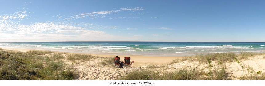 Beach on Fraser Island, Queensland,  Australia