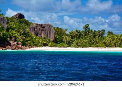 Beach on Grande Soeur Island, Seychelles