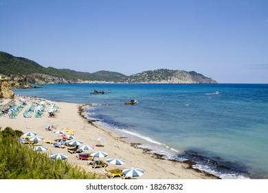Beach on Ibiza Island (Baleares - Spain)