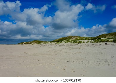 Beach on the island Amrum with dunes Schleswig-Holstein, Germany