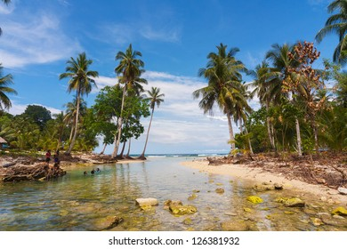 Beach on the island Biak, Cenderawasih Bay, the northern coast of Papua