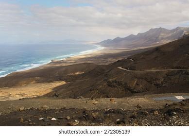 beach on the island of Fuerteventura, Spain