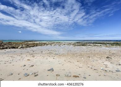 Beach on the island of Herm, UK