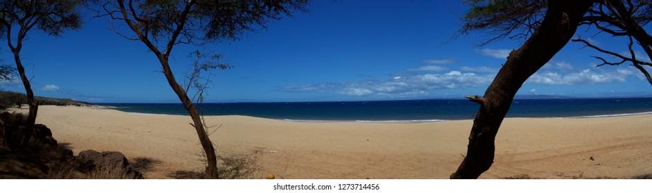 Beach on island of Lanai, Hawaii, 2008