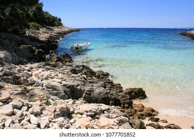 beach on the island Losinj, croatia