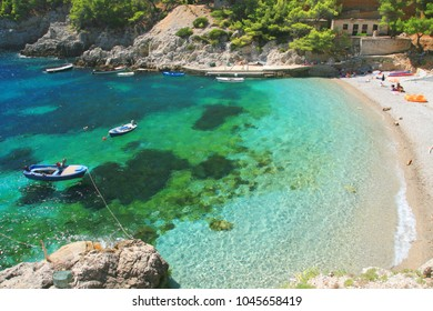 Beach on Island Mljet, Croatia