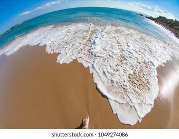 Beach on the island of Rodos
