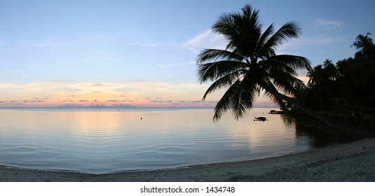 Beach on Ko Pha-Ngan island in southern Thailand.
