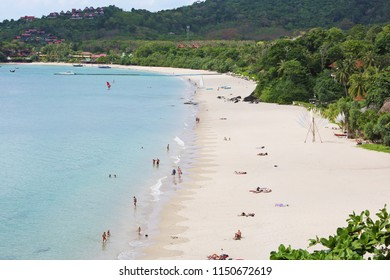 A beach on a Koh Lanta island in Thailand sounded in by Andaman Sea. The location is a popular tourist and backpacker destination in South east Asia