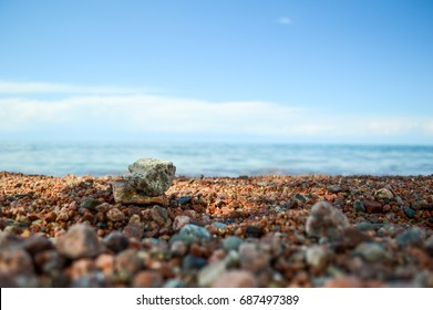 Beach on the lake, beach on the sea