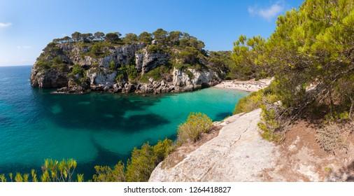 Beach on Menorca island