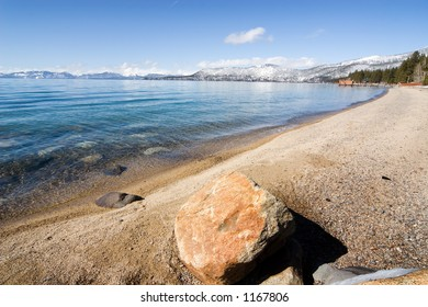 Beach on north shore of Lake Tahoe