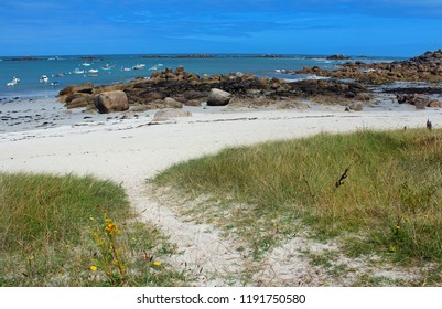 beach on the northern coast of Brittany, France