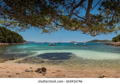 Beach on Otok Vrgada, Croatia, Europe