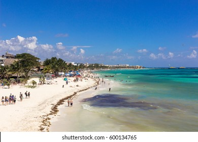 beach on Playa del Carmen, Mexico