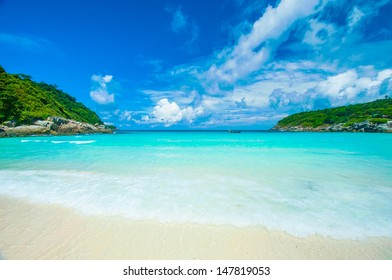 Beach on the Raya island in Phuket Thailand