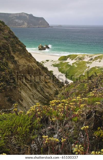 Beach on San Miguel Island, Channel Island National Park, California
