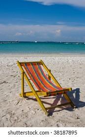 Beach on a sunny day.Pattaya city in Thailand .