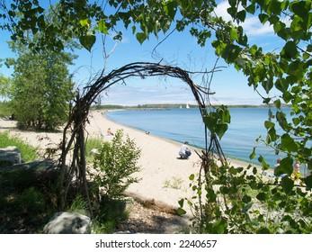 beach on Toronto Island, Lake Ontario