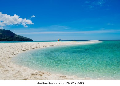 the beach on the white island, off the island of Camiguin, Philippines