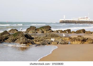 beach in Oostende, Belgium