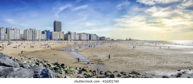 The beach at Ostend, Belgium