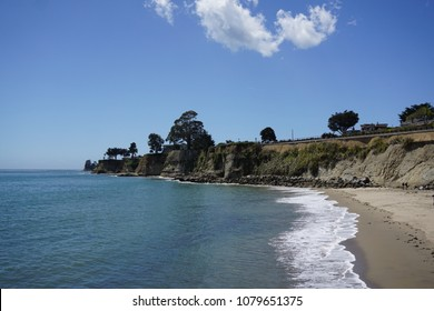 Beach and Pacific Ocean in Capitola, CA