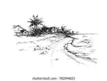 Line Drawing Jellyfish : Beach drawing images stock photos vectors shutterstock