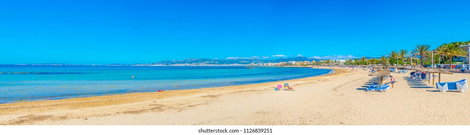Beach at Palma de Mallorca, Spain
