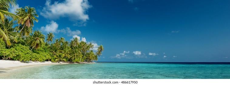 Beach Panorama on the Maldives