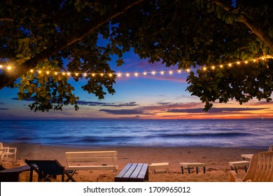 beach party in twilight time