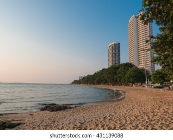 Beach in Pattaya city, Thailand
