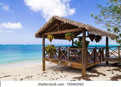 Beach pavilion on Grand Cayman.