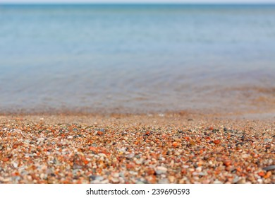 beach pebble stones sea shore summer vacation background