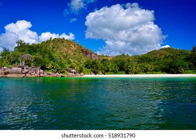 Beach Petite Anse Kerlan, Praslin Island, Seychelles
