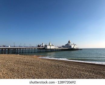 Beach and pier at Eastbourne