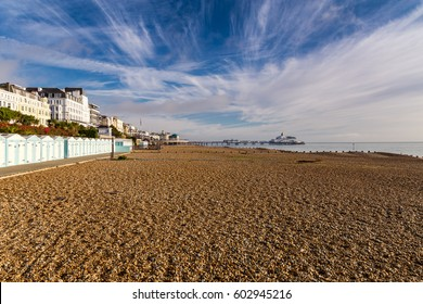Beach and pier, Eastbourne, East Sussex, UK