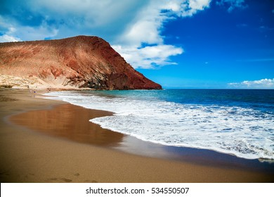 beach Playa de la Tejita in Tenerife, Canary islands, Spain