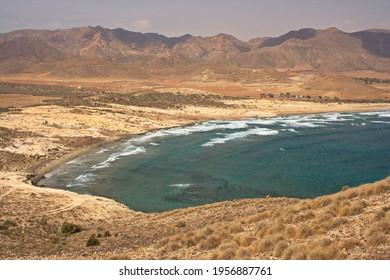 Beach Playa de los Genoveses in San Jose in province Almeria,Andalusia,Spain,Europe  - Shutterstock ID 1956887761