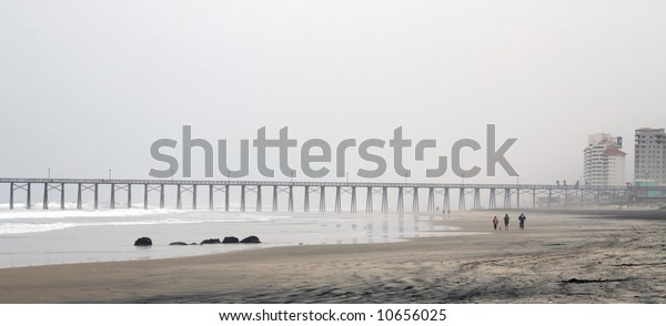 The beach in Playas de Rosarito, a city in the Mexican state of Baja California located approximately 35 minutes south of the U.S. border in Tijuana.
