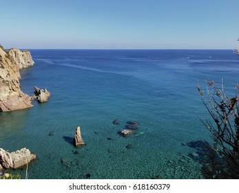 Beach in Ponza island