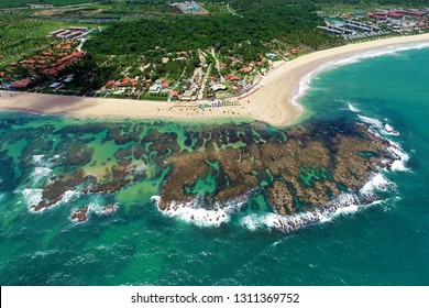 Cupe's Beach, Porto de Galinhas, Brazil:  swimming with fishs in natural pools. Vacation travel. Tropical vacation. Tropical travel. Watch related videos in https://shutr.bz/2IFqzqE