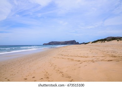 Beach at Porto Santo Island looking south towards Ilha da Cal