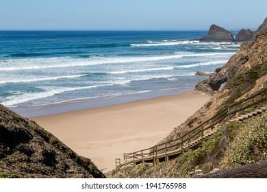 beach (Praia das Adegas-Naturismo)  near of Odeceixe, Algarve, Portugal