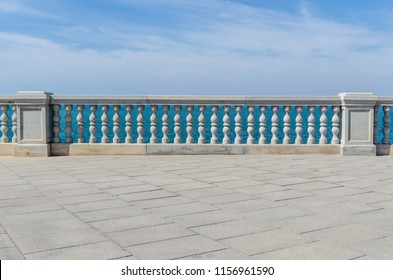 beach promenade in the city of Cadiz, Andalusia, Spain